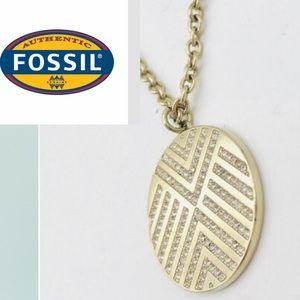 🍁NEW🍁 FOSSIL Chevron Gold Necklace